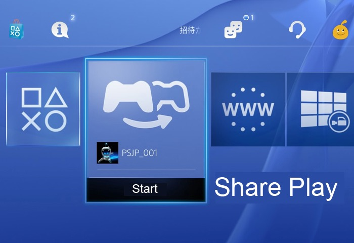 PlayStation 4 Share Play