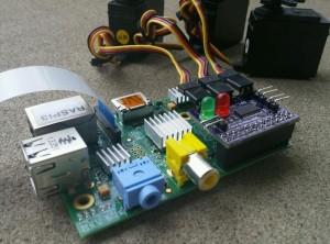 Raspberry Pi Servo Card Controls 3 Servos, 2 LEDs and Reads 3 Switches (video)