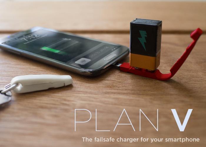 Plan V Failsafe Smartphone Charger Uses 9volt Batteries (video)