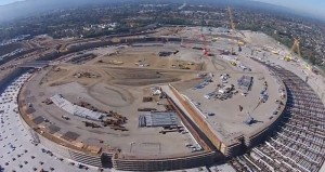 Another Drone Explores Apple Spaceship Campus (Video)