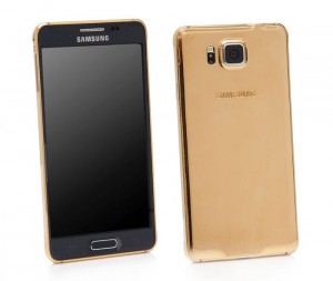 24 CT Gold Samsung Galaxy Alpha Will Cost You £1,600+