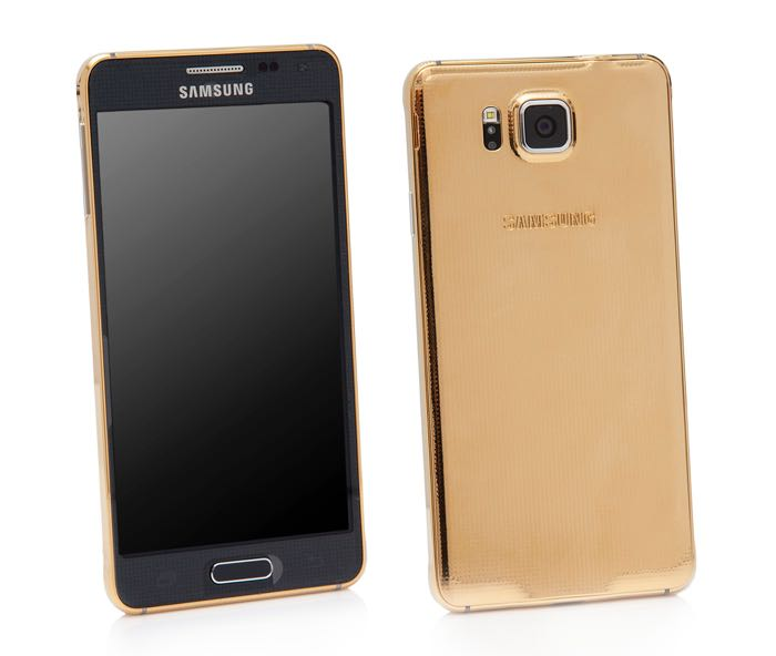 24 ct gold samsung galaxy alpha will cost you 1 600. Black Bedroom Furniture Sets. Home Design Ideas
