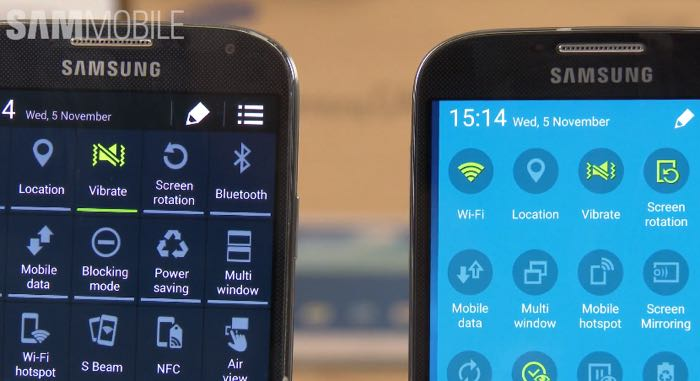 Galaxy s4 with android lollipop compared to kitkat galaxy s4 ccuart Image collections