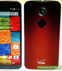 Moto X with Football leather back rumored