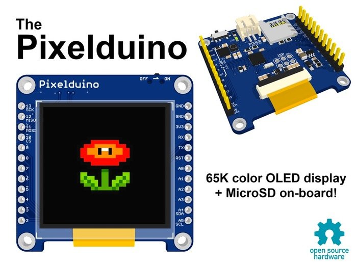 Pixelduino arduino oled display video