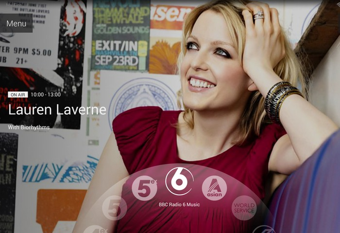 BBC iPlayer Radio Tablet