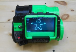 Awesome Pipboy 3000 Wearable Arm Mounted Mini Computer (video)
