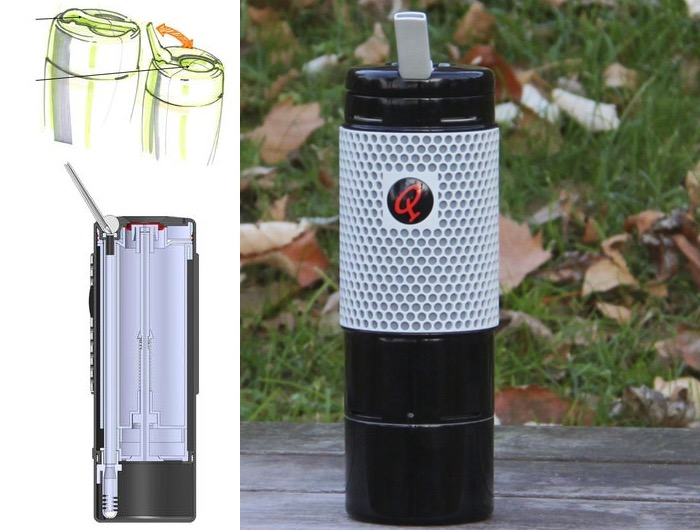 Qterra NOVO Travel Tea Brewing System With CoolStraw Technology
