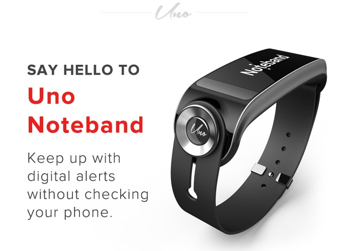 Uno Noteband Wearable Notification Smartband Offers Speed Reading Features (video)