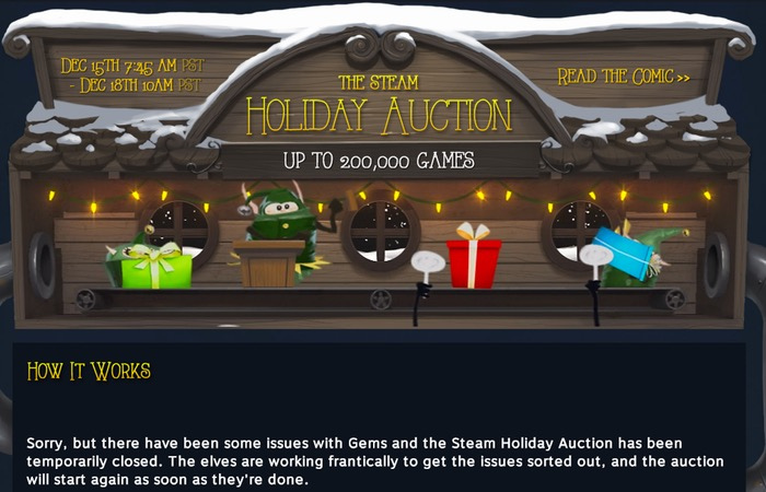 Steam Holiday Auction