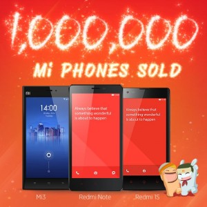 Xiaomi Sold 1 Million Smartphones in India
