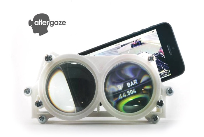 Altergaze virtual reality vizor