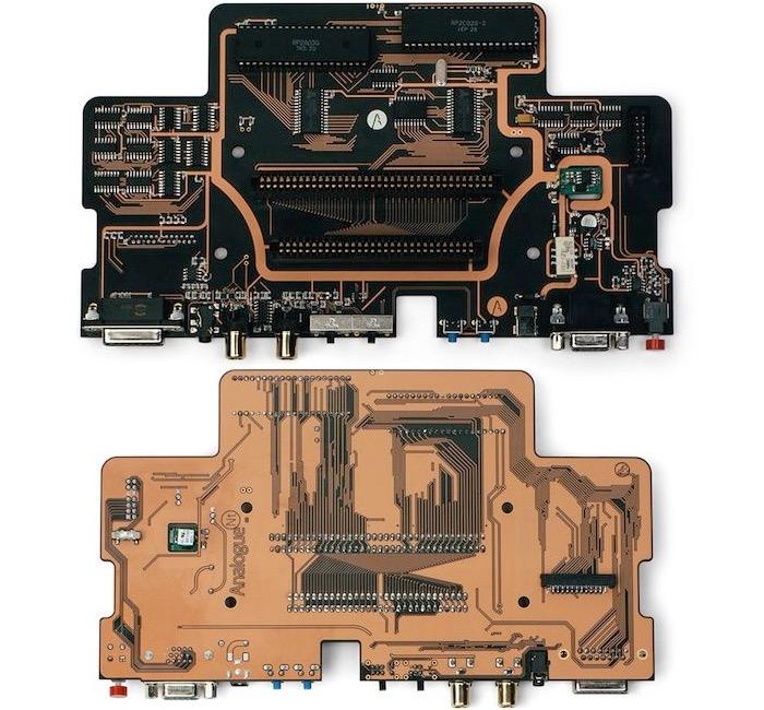 Analogue Interactive Aluminium NES motherboard