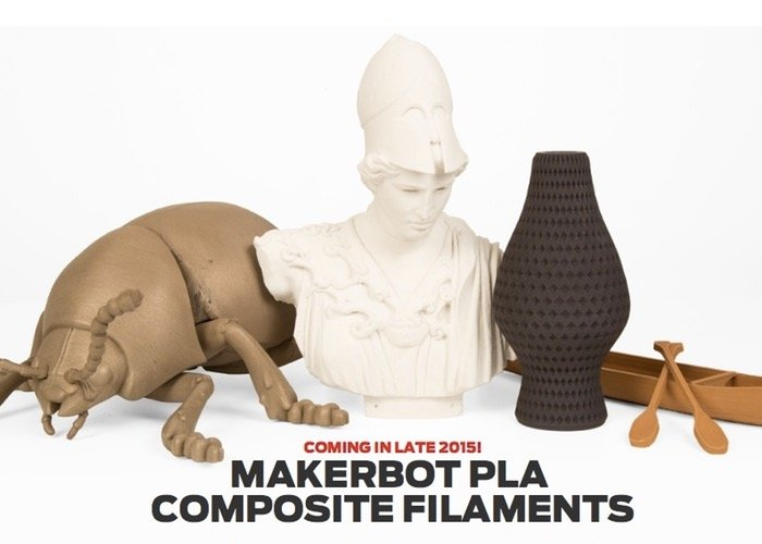 Makerbot new 3D Printing filaments CES 2015