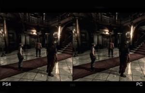 Resident Evil HD Remaster PS4 30fps vs PC 60fps Comparison (video)