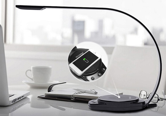 Wireless Smartphone Charging LED Lamp