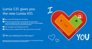 Get a Free Lumia 435 on Purchase of the Lumia 535 in Italy