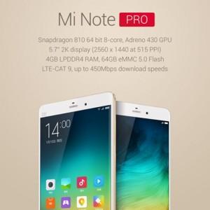 Xiaomi Mi Note Pro Gets A Snapdragon 810 Processor