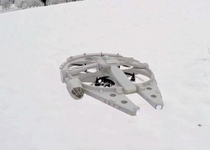 RC Millennium Falcon Drone Created By Hobbyist (video)