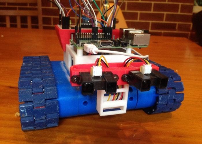 Raspberry Pi 3D Printed Tank Bot