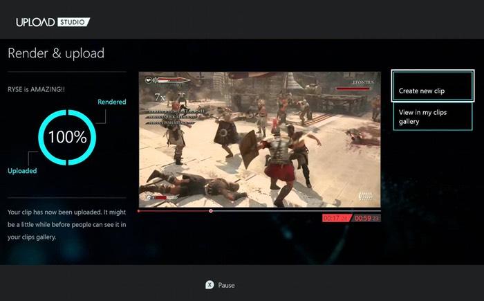 Xbox One Upload Studio Update
