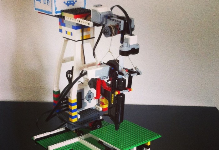 A 3D Printer Created from a Glue and LEGO Gun