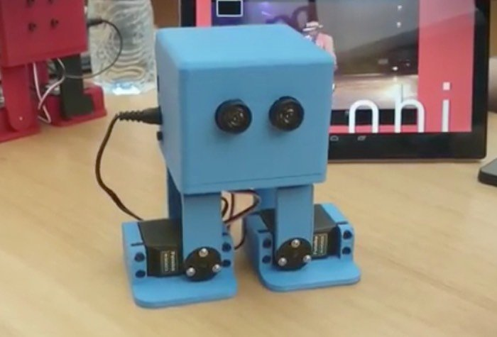 Critical image intended for 3d printable robot