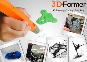 3DFormer 3D Printing Pen Launches On Kickstarter (video)