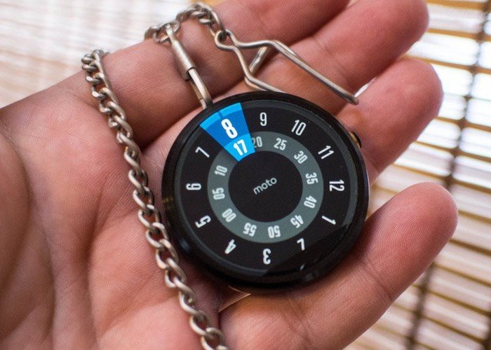 moto  pocket watch created with a little d printing