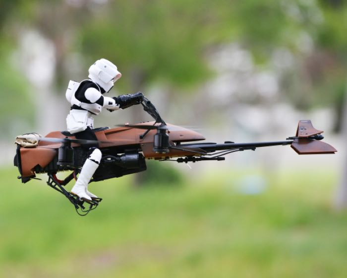 Imperial Speeder Bike Quadcopter Is Awesome (Video)