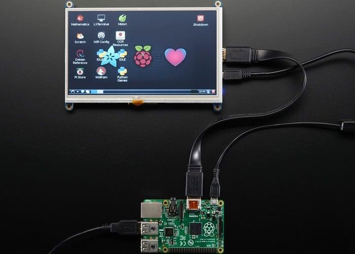 """Adafruit présente un écran tactile 7"""" pour Raspberry Pi Touchscreen-Display"""