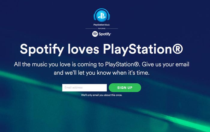 playstation 4 spotify