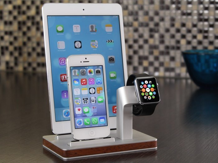 premium one apple watch and iphone dock video. Black Bedroom Furniture Sets. Home Design Ideas