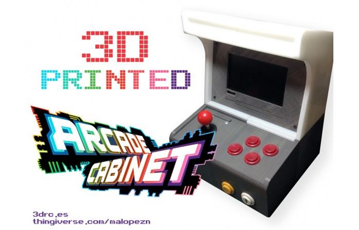3D Printed Arcade Cabinet Powered By A Raspberry Pi