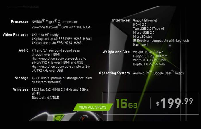 500GB NVIDIA Shield Game Console