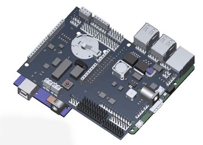 Bridge shield combines raspberry pi and arduino uno