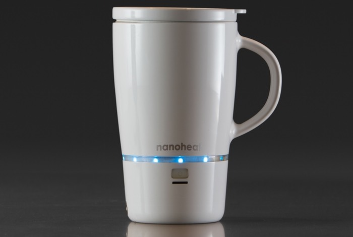 Nanoheat Wireless Heated Mug Keeps Your Brew Warm Video