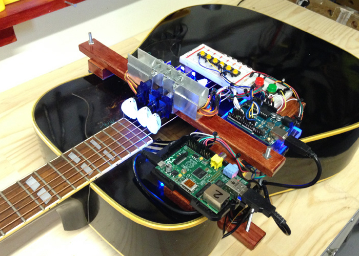 Raspberry Pi And Arduino Powered Guitar
