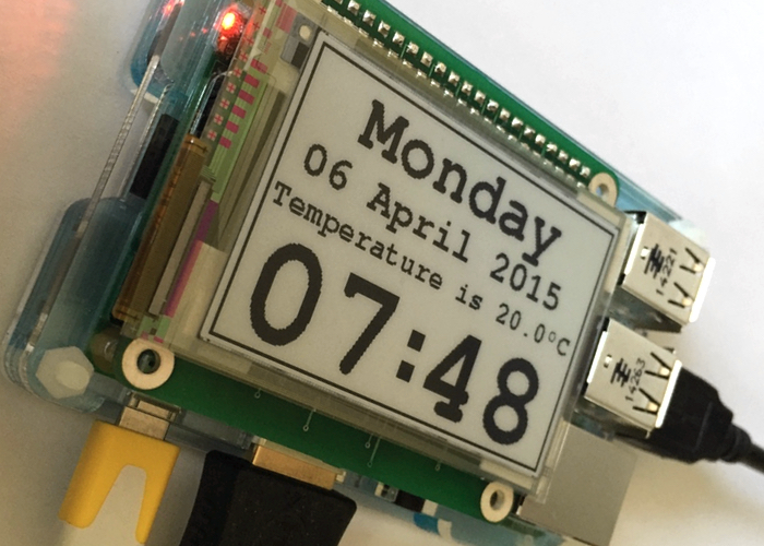 Raspberry Pi E-Paper Display HAT