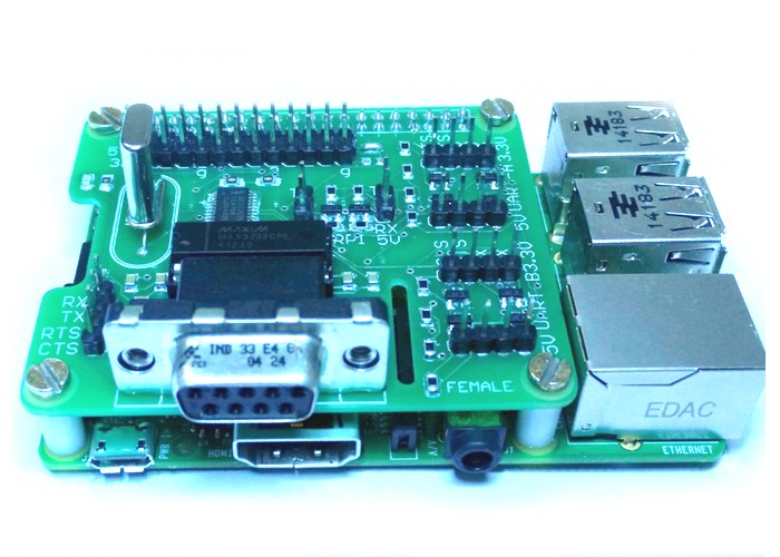 Raspberry Pi UART Hat Adds Extra Serial Ports And More (video)