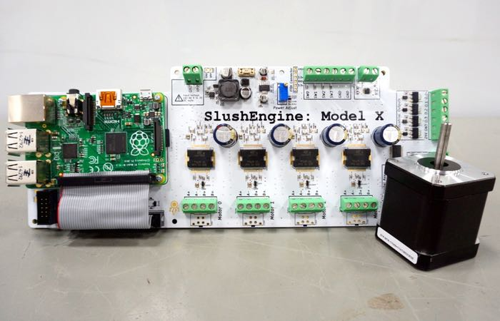 Slushengine raspberry pi stepper motor driver video for Raspberry pi motor speed control