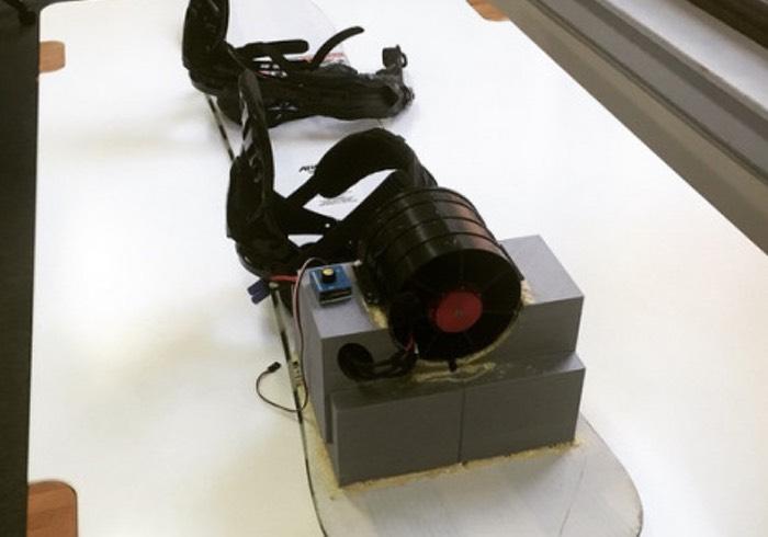 Snowboarder Jet Propulsion System