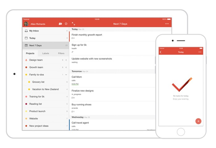 Todoist iOS App Re-Designed To Achieve More With Less Effort (video)