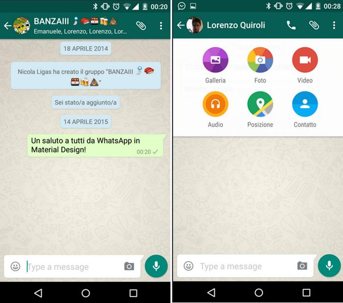WhatsApp Gets Material Design In the Latest Update