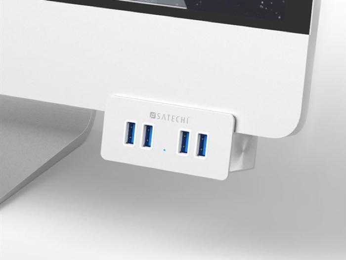 Satechi 4 Port USB Clamp Hub