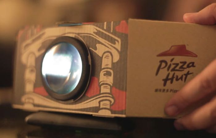 Pizza Box Movie Projector