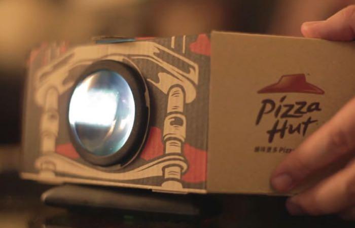 Pizza Box Movie Projector
