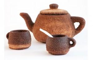 Utah Tea Set 3D Printed Using Tea Powder