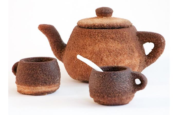 Utah Tea Set 3D Printed Using Tea Powder
