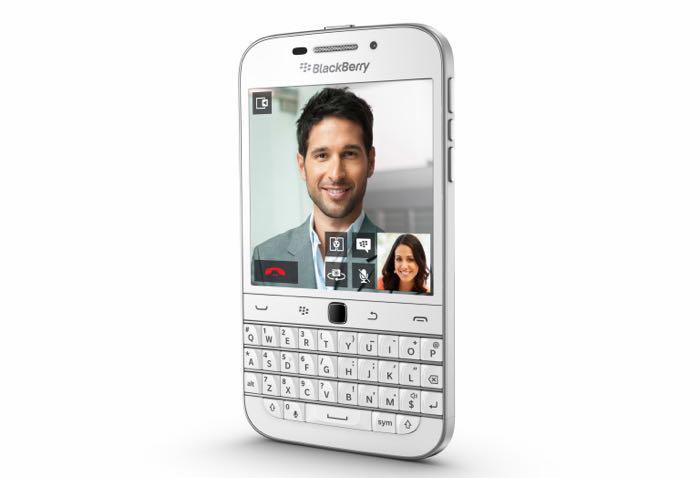 White BlackBerry Classic